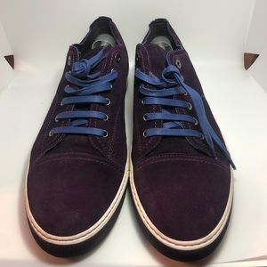 Lanvin Grape Suede Leather Sneakers Men's Size 12
